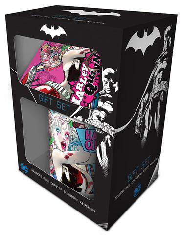 Набор Pyramid: DC: Harley Quinn. Кружка+Подставки+Брелок