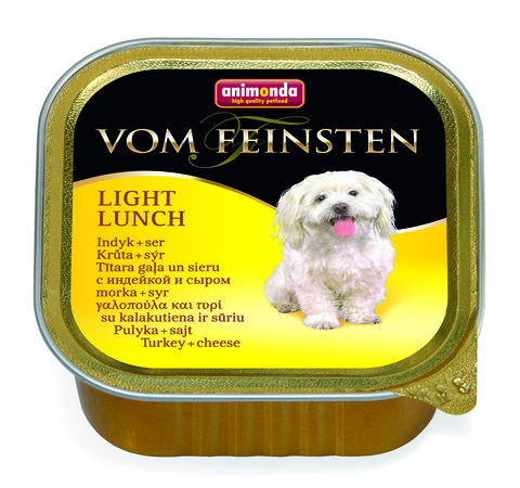 Консервы Animonda Vom Feinsten Light Lunch с индейкой и сыром облегченное меню для взрослых собак