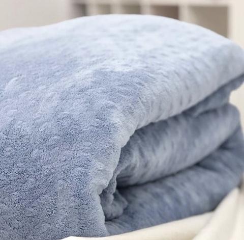 Плюш Minky (100% полиэстер) Серо-голубой