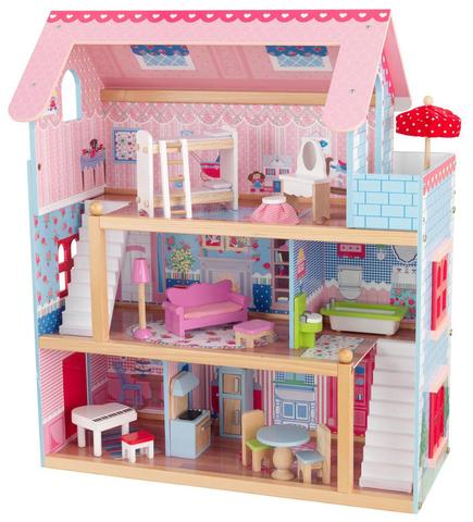 KidKraft Открытый коттедж - кукольный домик с мебелью 65054_KE