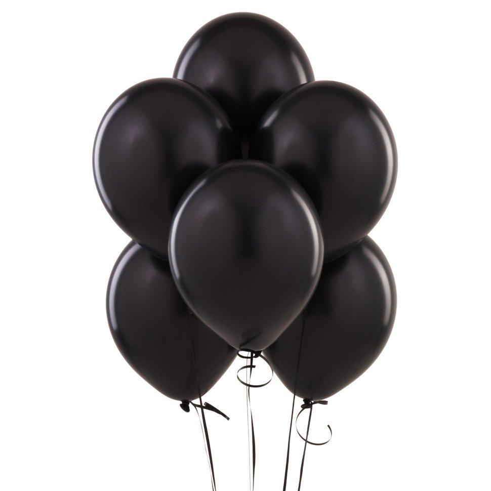 """Воздушные шары с гелием """"Черные"""" (2 фото)"""