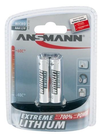 Батарейка литиевая ААА/ANSMANN 1.5V - 2 шт