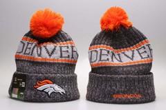 Шерстяная вязаная шапка Denver футбольного клуба (NFL) с помпоном