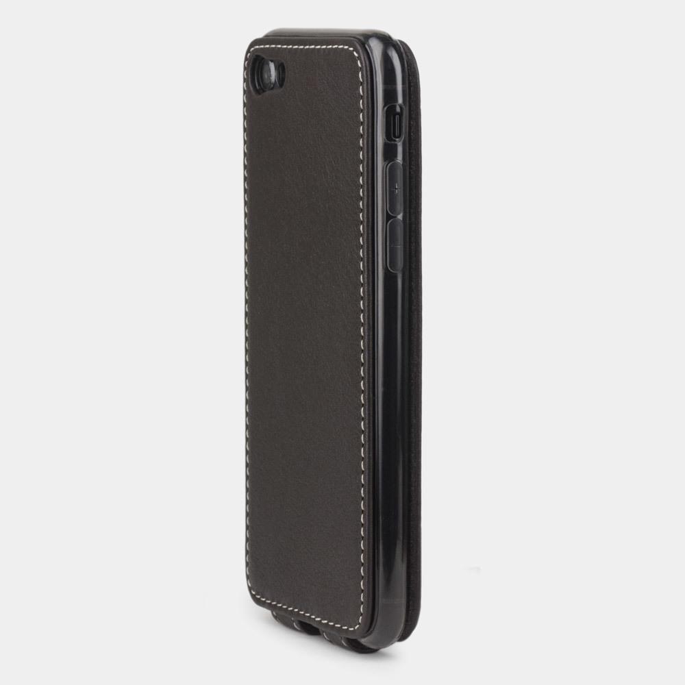 Чехол для iPhone 8 из натуральной кожи теленка, темно-коричневого цвета