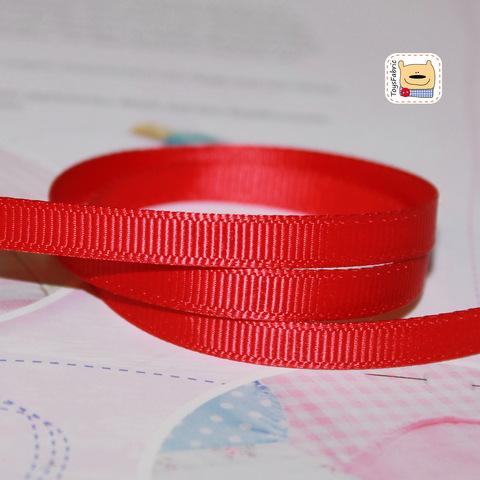 Лента репсовая 6мм (красный) ЛР6-23