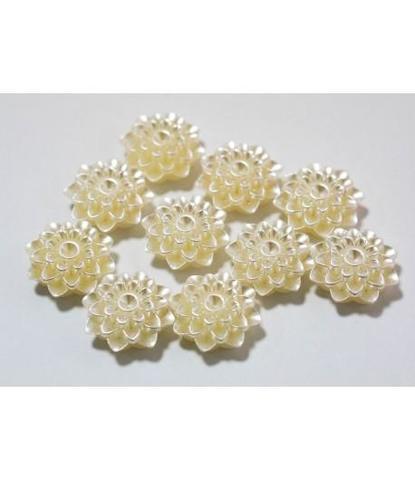122 Стразы-цветочки жемчужные 20мм 10 шт