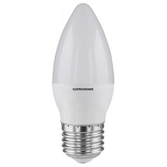 Лампа светодиодная SMD E27 6W 3300K свеча матовая 4690389054914