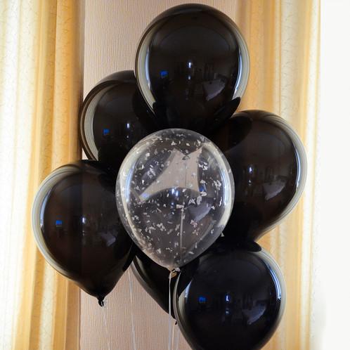"""Воздушные шары с гелием """"Черные"""" (3 фото)"""