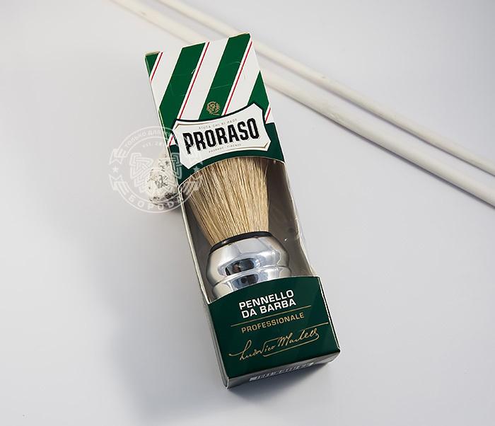 RAZ400102 Классический помазок для бритья «Proraso», щетина кабана фото 02