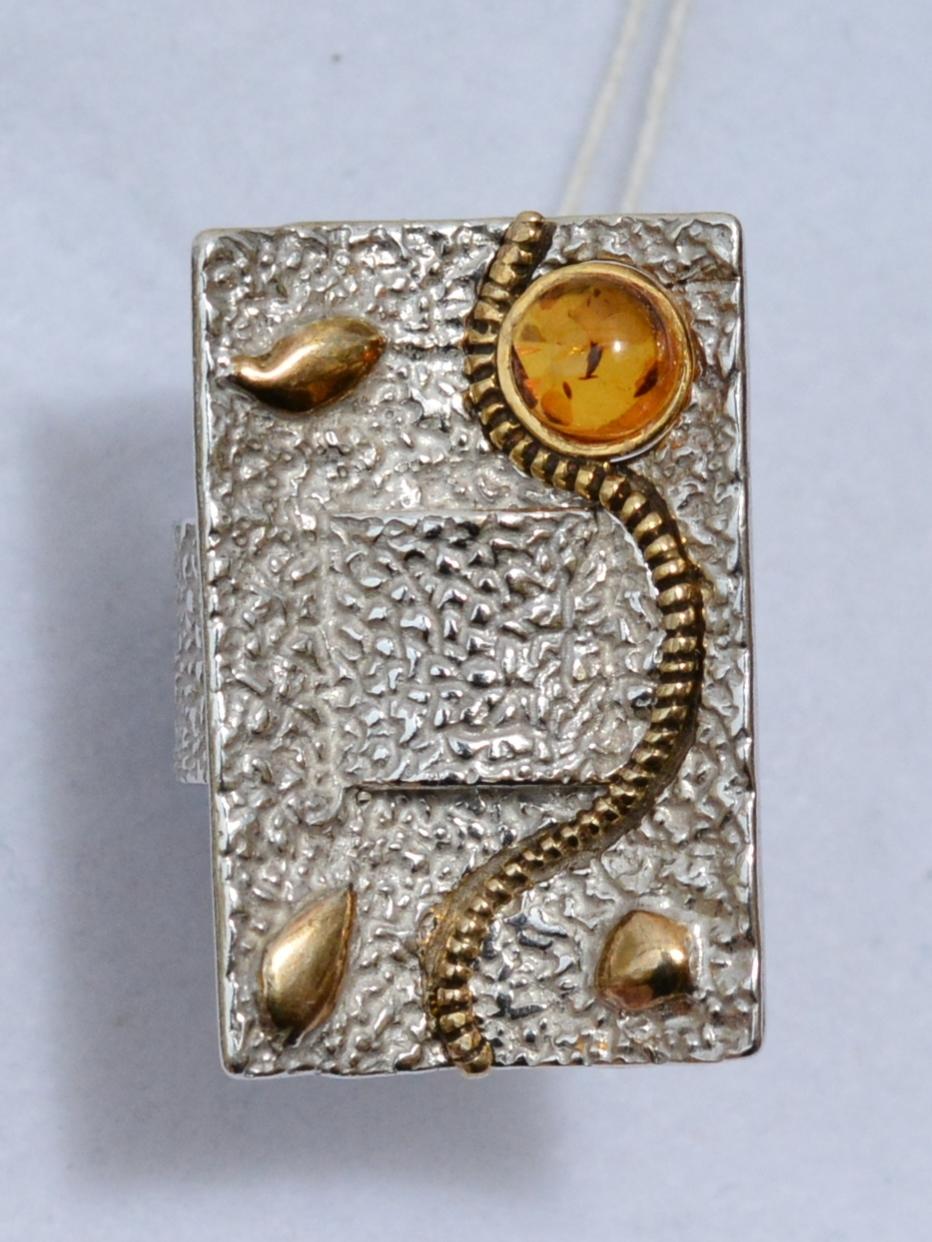 Амибия (кольцо из серебра)