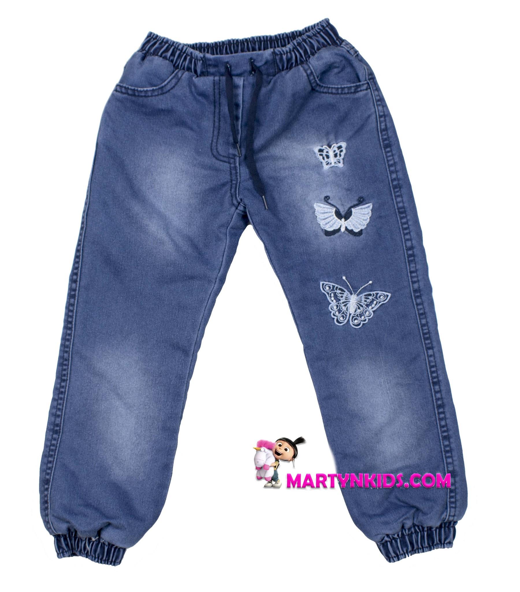 1810 джинсы теплые много бабочек