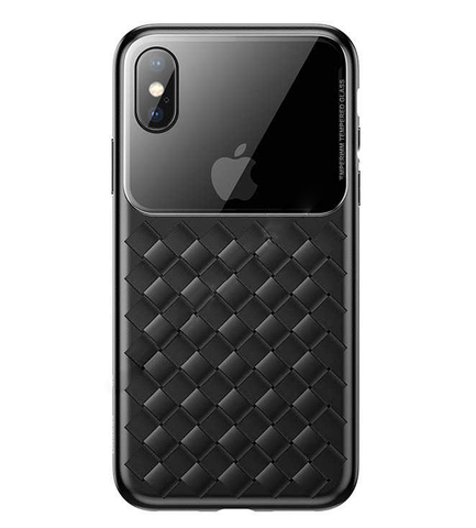 Чехол iPhone XS Baseus Weaving Case /black/