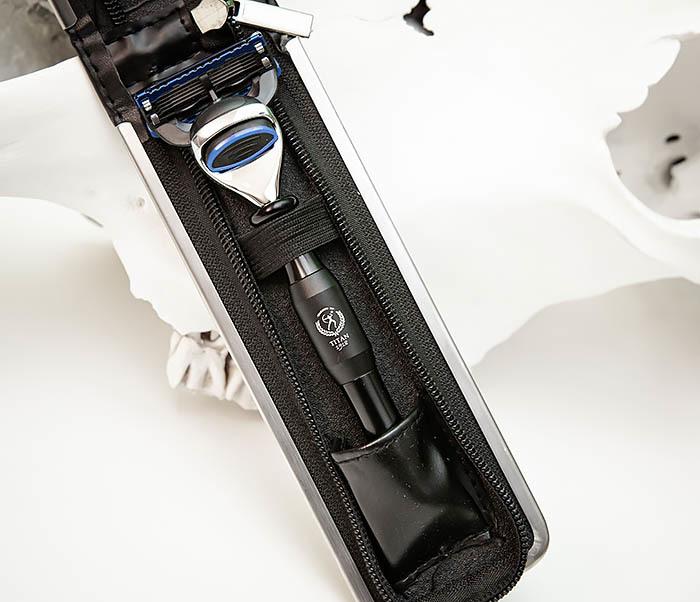 RAZ477-1 Безопасная бритва «TITAN» для кассет GILLETTE FUSION (черная) фото 03