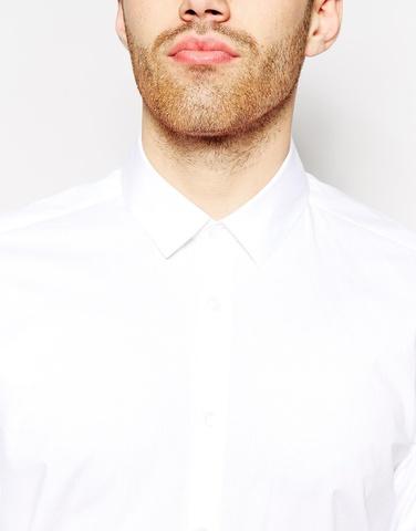 Строгая рубашка из чистого хлопка