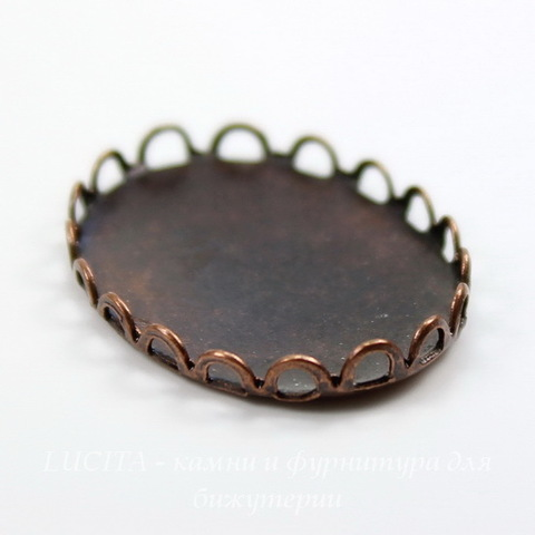 Сеттинг - основа для камеи или кабошона 25х18 мм (оксид меди)