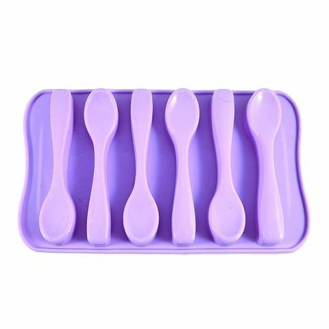 Форма для льда 6 ячеек ЛОЖКИ (силикон),  купить