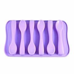 Форма для льда 6 ячеек ЛОЖКИ (силикон)