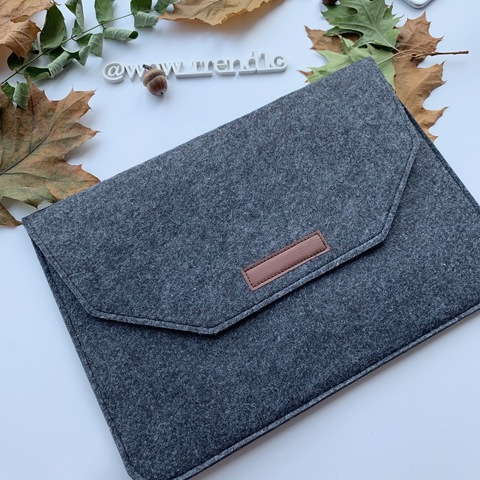 Папка конверт для MacBook Felt sleeve bag 15.4'' /darc gray/