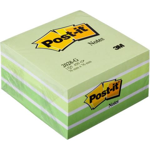 Стикеры Post-it куб 2028-G 76x76 зеленая пастель 450л.