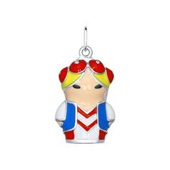 Подвеска из серебра с эмалью «Белоруска»