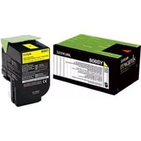 Картридж для принтеров Lexmark CX310/410/510 желтый (yellow). Ресурс 2000 стр (80C8SYE)