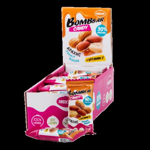 Протеиновые конфеты Bombbar Финик-арахис-кунжут, 18 гр