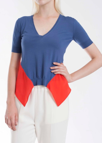 Блуза из шерсти и шелка VIONNET