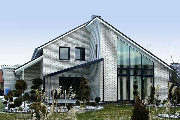 Фасадная плитка Roben, Montblanc, цвет белый перламутровый (perlweiss), рельефная