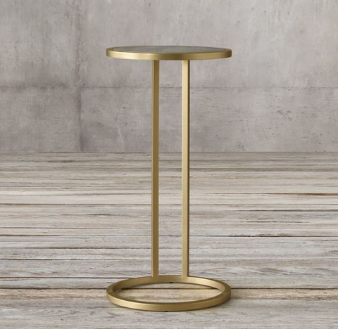 Graydon Shagreen Round Cocktail Side Table