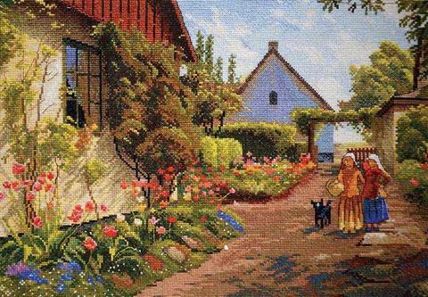 Дома в цвету