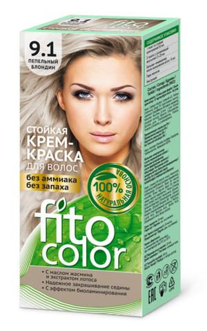 Фитокосметик Fito Color Стойкая крем-краска для волос тон Пепельный блондин 115мл