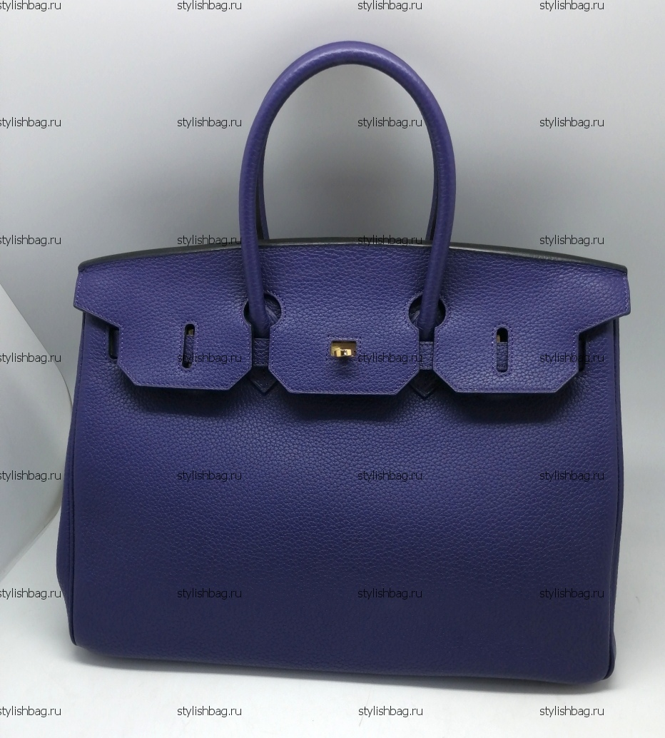 d9740f98d637 Купить женскую сумку Hermes Birkin 35 того синего цвета