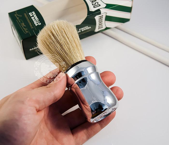 RAZ400102 Классический помазок для бритья «Proraso», щетина кабана фото 04