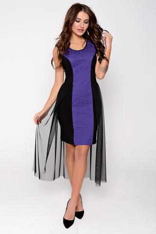 Вечернее платье оригинального фасона. (Длина: 44=92см; 46=93,5см; 48=95см; 50=96см;)