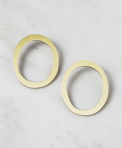 Серьги Hepworth II Studs Brass