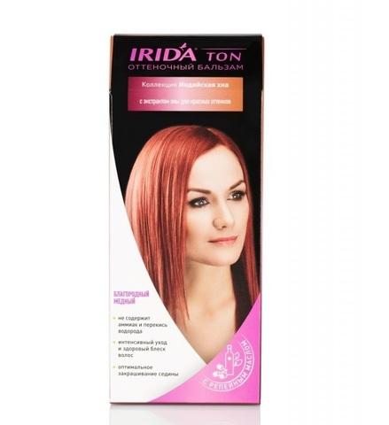 Irida Irida Ton Оттеночный бальзам для окраски волос Благородный медный 2*25мл