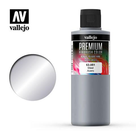 Premium Airbrush Steel 200 ml.