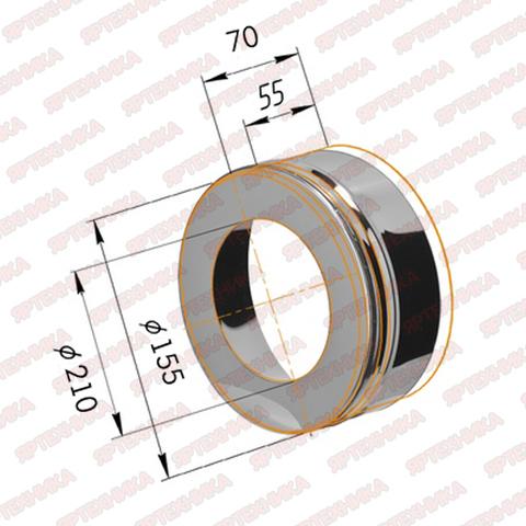 Заглушка с отверстием d150х210мм (430/0,5мм) Ferrum