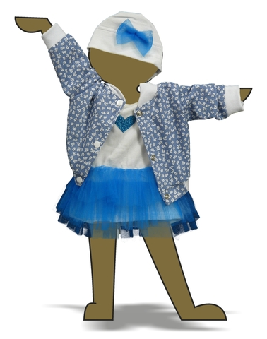 Комплект с джинсовой курткой - Демонстрационный образец. Одежда для кукол, пупсов и мягких игрушек.