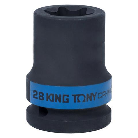 KING TONY (657528M) Головка торцевая ударная TORX Е-стандарт 3/4