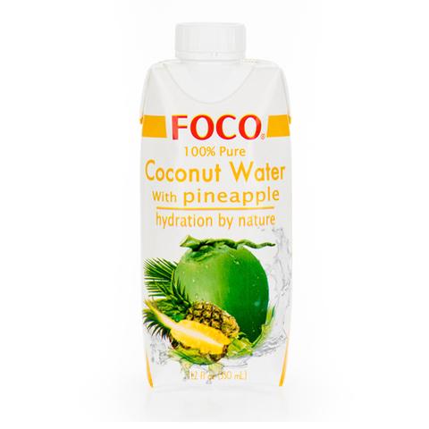 Кокосовая вода с соком ананаса FOCO 330 мл Tetra Pak