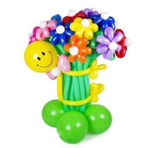 Букет цветов Смайл с ромашками