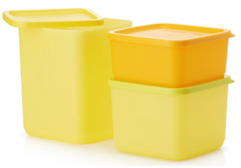 Набор контейнеров Кубикс в желтом цвете