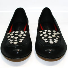 Черные женские балетки Kluchini 5212 k 364 Black.
