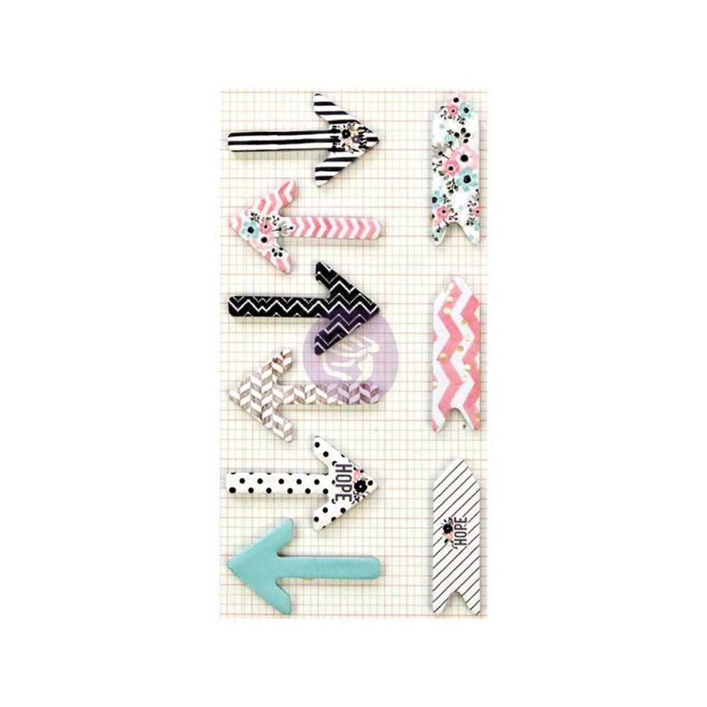 Закладки-стикеры Prima Love, Faith, Scrap Planner Arrow Stickies