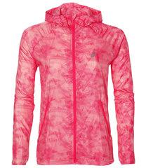 Женская куртка ветровка для бега Asics Fuzex Packable 141642 1119 розовая