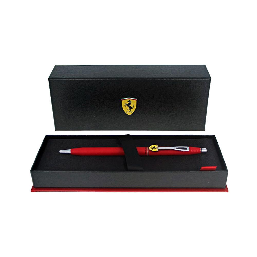 Cross Classic Century - Ferrari Matte Rosso Corsa Red Lacquer/Chrome, шариковая ручка