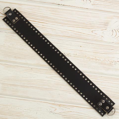 Боковая часть для сумки черная узкая 4мм