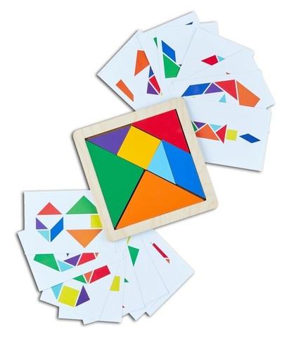 Головоломка Танграм с карточками, RadugaKids (Радуга Кидс)