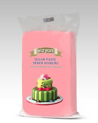 Мастика сахарная розовая Vizyon